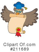 Royalty-Free (RF) Owl Clipart Illustration #211689