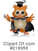 Royalty-Free (RF) Owl Clipart Illustration #218956
