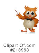 Royalty-Free (RF) owl Clipart Illustration #218963