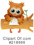 Royalty-Free (RF) Owl Clipart Illustration #218966