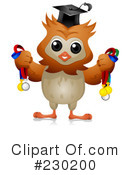 Royalty-Free (RF) Owl Clipart Illustration #230200