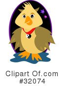 Royalty-Free (RF) Owl Clipart Illustration #32074