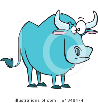 Bull Clipart #1346474 by toonaday