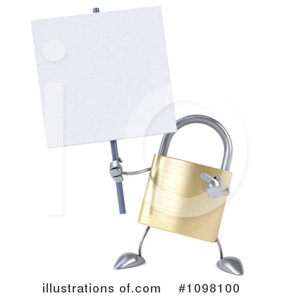 Royalty-Free (RF) Padlock Clipart Illustration by Julos - Stock Sample #1098100