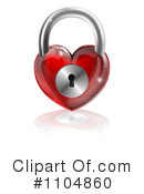 Royalty-Free (RF) Padlock Clipart Illustration #1104860