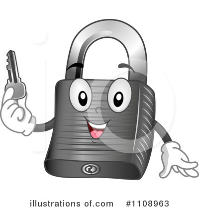 Padlock Clipart #1108963 by BNP Design Studio