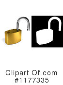 Royalty-Free (RF) padlock Clipart Illustration #1177335