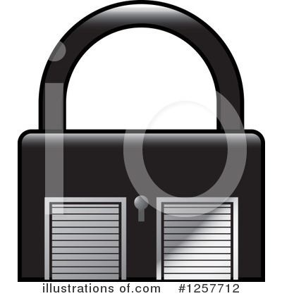 Royalty-Free (RF) Padlock Clipart Illustration by Lal Perera - Stock Sample #1257712