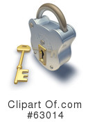 Royalty-Free (RF) padlock Clipart Illustration #63014