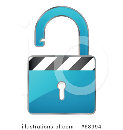 Royalty-Free (RF) Padlock Clipart Illustration by beboy - Stock Sample #68994