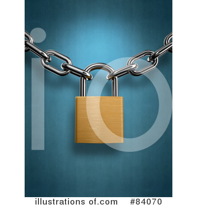 Royalty-Free (RF) Padlock Clipart Illustration by Mopic - Stock Sample #84070