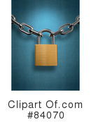 Royalty-Free (RF) Padlock Clipart Illustration #84070