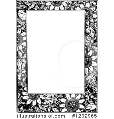 Royalty-Free (RF) Page Border Clipart Illustration by Prawny Vintage - Stock Sample #1202965