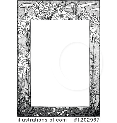 Royalty-Free (RF) Page Border Clipart Illustration by Prawny Vintage - Stock Sample #1202967