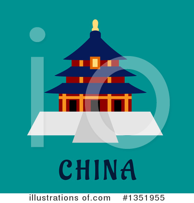 Pagoda Clipart #1351955 by Vector Tradition SM