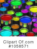 Paint Buckets Clipart #1058571 by stockillustrations