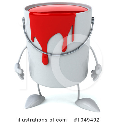 Paint Can Clipart #1049492 - Illustration by Julos