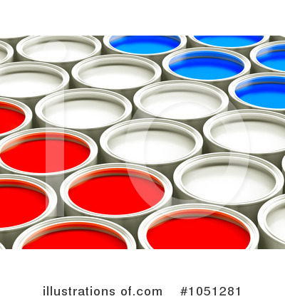 Paint Buckets Clipart #1051281 by ShazamImages