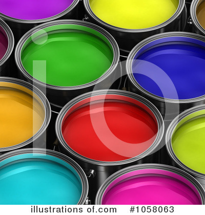Paint Buckets Clipart #1058063 by stockillustrations