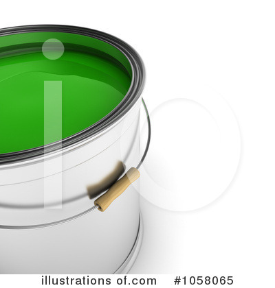 Paint Buckets Clipart #1058065 by stockillustrations