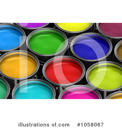 Paint Buckets Clipart #1058067 by stockillustrations