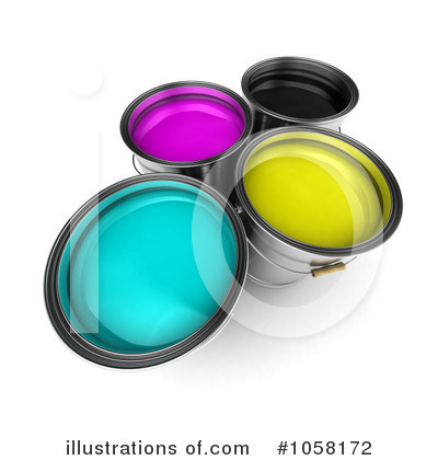 Paint Buckets Clipart #1058172 by stockillustrations