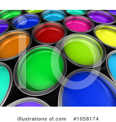 Paint Buckets Clipart #1058174 by stockillustrations