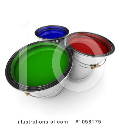 Paint Buckets Clipart #1058175 by stockillustrations