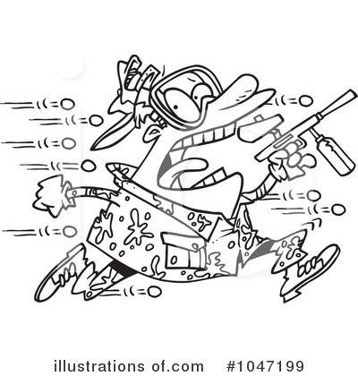 Paintball Clipart #1047199 by toonaday