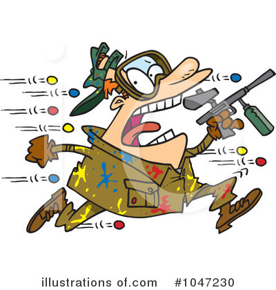 Paintball Clipart #1047230 by toonaday