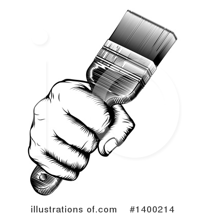 Painter Clipart #1400214 by AtStockIllustration