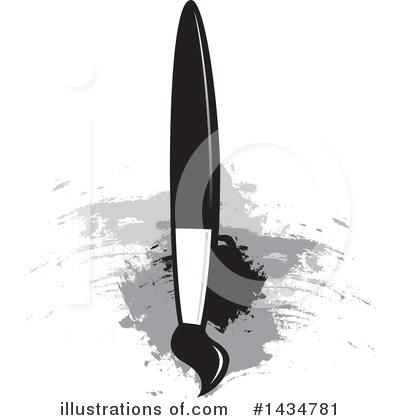 Paintbrush Clipart #1434781 by Lal Perera