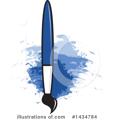 Paintbrush Clipart #1434784 by Lal Perera