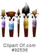 Royalty-Free (RF) Paintbrush Clipart Illustration #92536