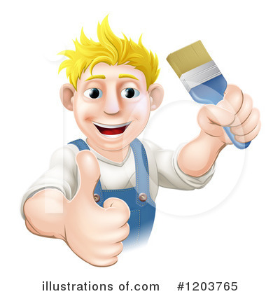Painter Clipart #1203765 by AtStockIllustration