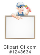 Painter Clipart #1243634 by AtStockIllustration