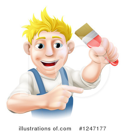 Painter Clipart #1247177 by AtStockIllustration