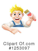 Painter Clipart #1253097 by AtStockIllustration