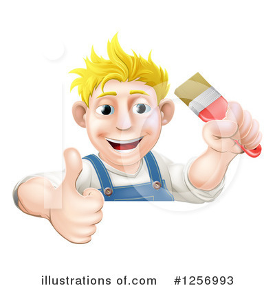Painter Clipart #1256993 by AtStockIllustration