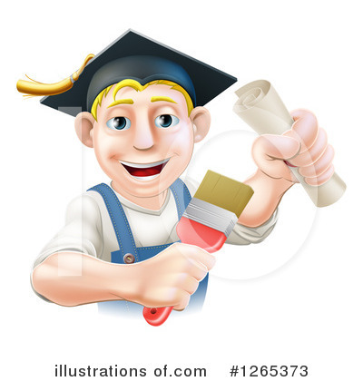 Graduate Clipart #1265373 by AtStockIllustration