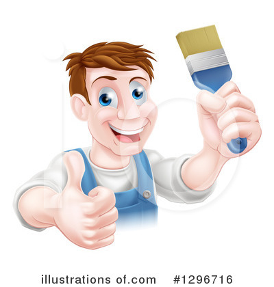 Painter Clipart #1296716 by AtStockIllustration