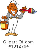 Painter Clipart #1312794 by LaffToon