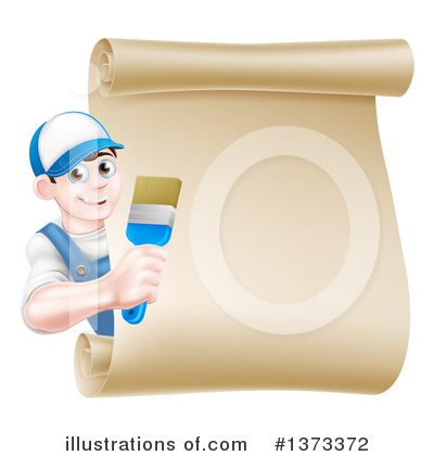 Painter Clipart #1373372 by AtStockIllustration