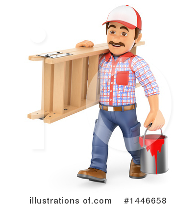 Painter Clipart #1446658 by Texelart
