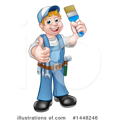 Painter Clipart #1448246 by AtStockIllustration