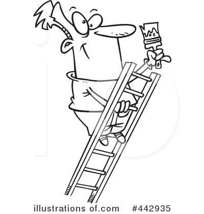 House Painter Clipart #442935 by toonaday