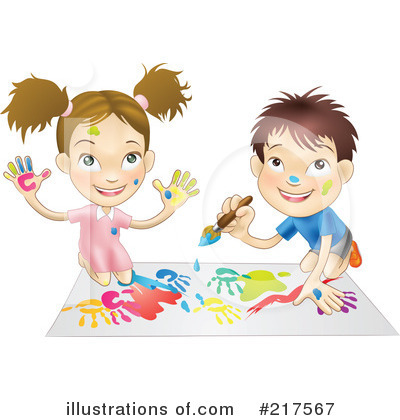 Playing Clipart #217567 by AtStockIllustration