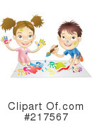 Royalty-Free (RF) painting Clipart Illustration #217567