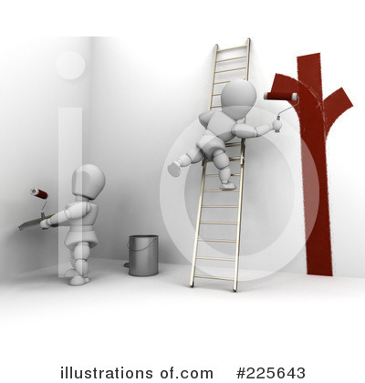 Royalty-Free (RF) Painting Clipart Illustration by KJ Pargeter - Stock Sample #225643