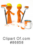 Royalty-Free (RF) Painting Clipart Illustration #86858
